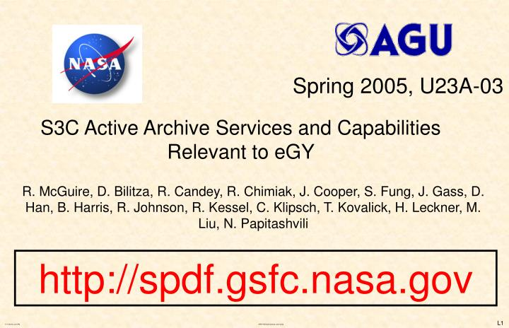 S3c active archive services and capabilities relevant to egy