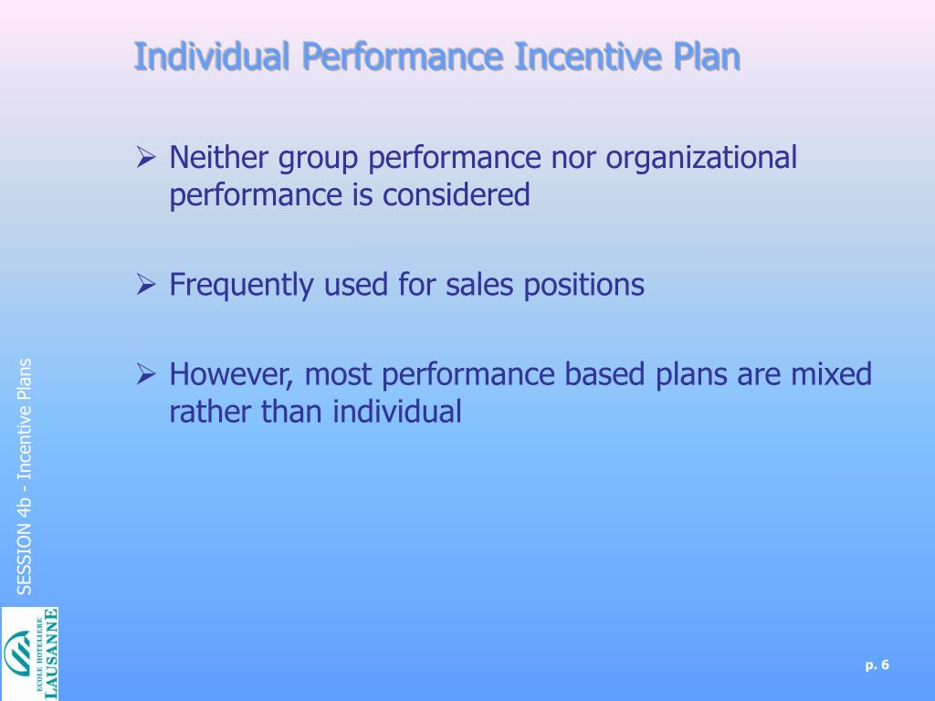 PPT - Incentive Plans PowerPoint Presentation - ID:6737853