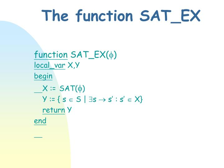 The function SAT_EX