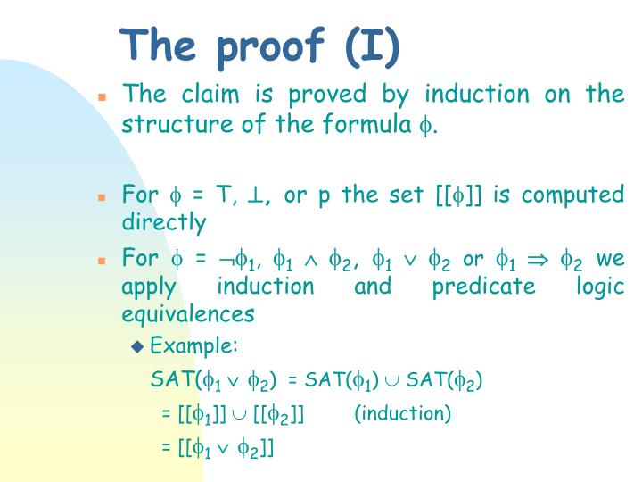 The proof (I)
