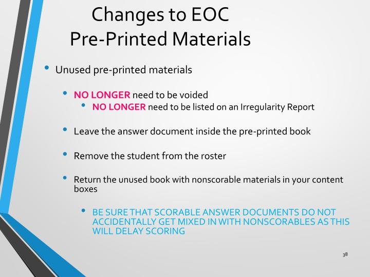 Changes to EOC