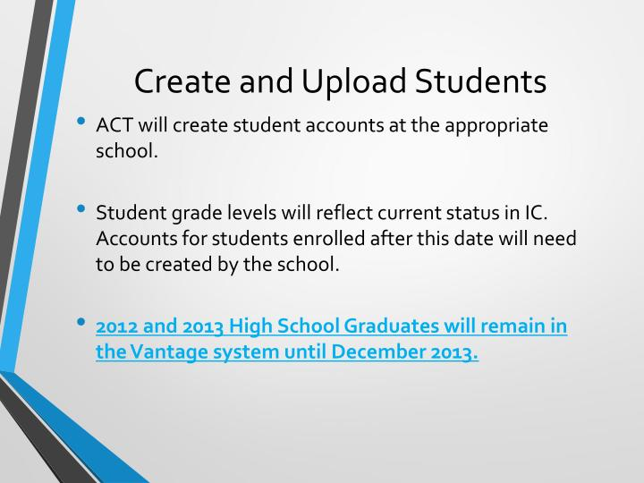 Create and Upload Students