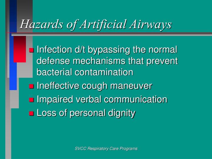 Hazards of Artificial Airways