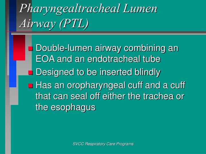 Pharyngealtracheal Lumen Airway (PTL)