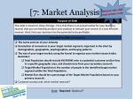 7 market analysis