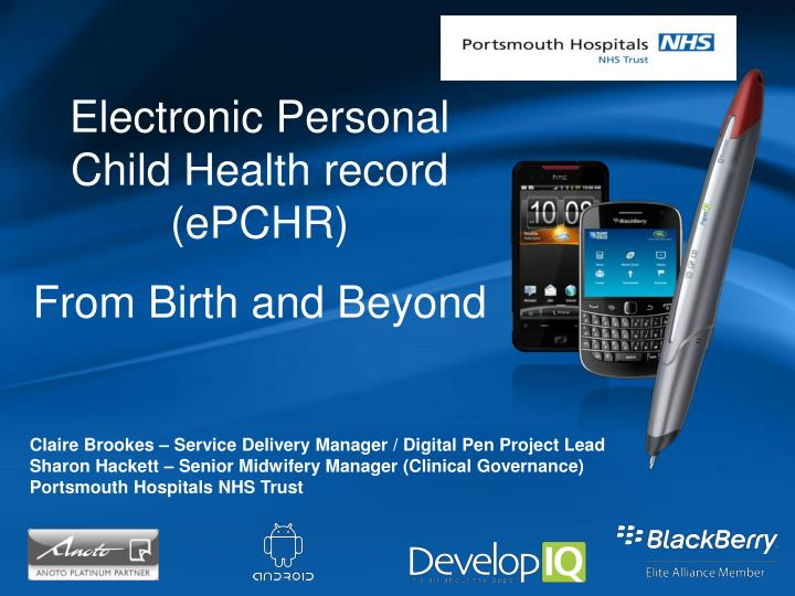 Electronic Personal Child Health record (ePCHR)