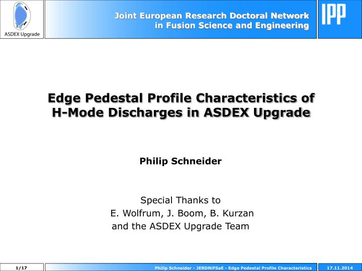 edge pedestal profile characteristics of h mode discharges in asdex upgrade