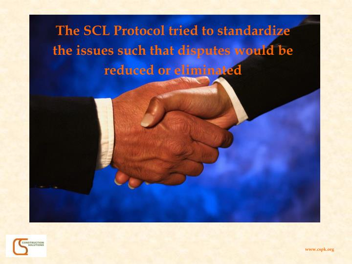 The SCL Protocol tried to standardize