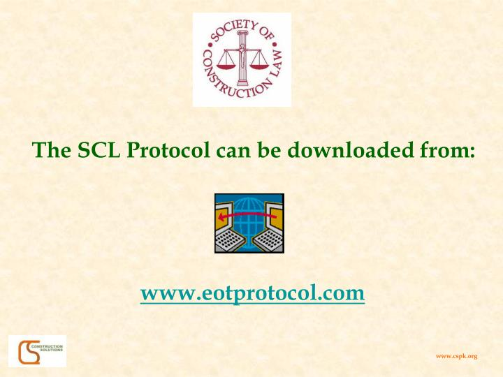 The SCL Protocol can be