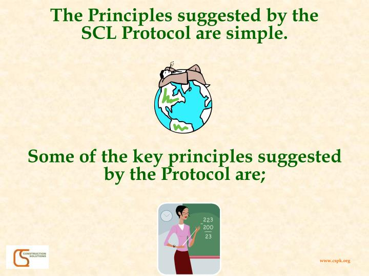 The Principles suggested by the