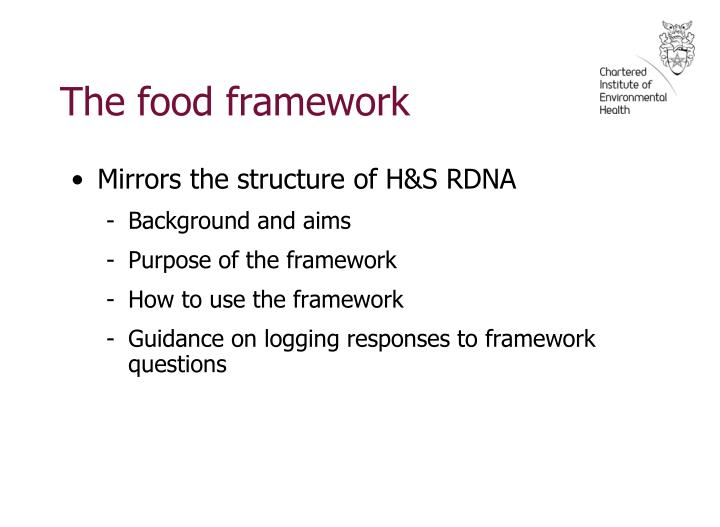 The food framework