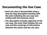 documenting the use case