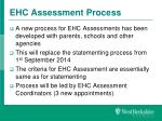 ehc assessment process