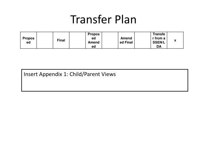 Transfer Plan