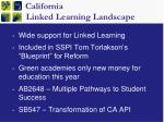 california linked learning landscape
