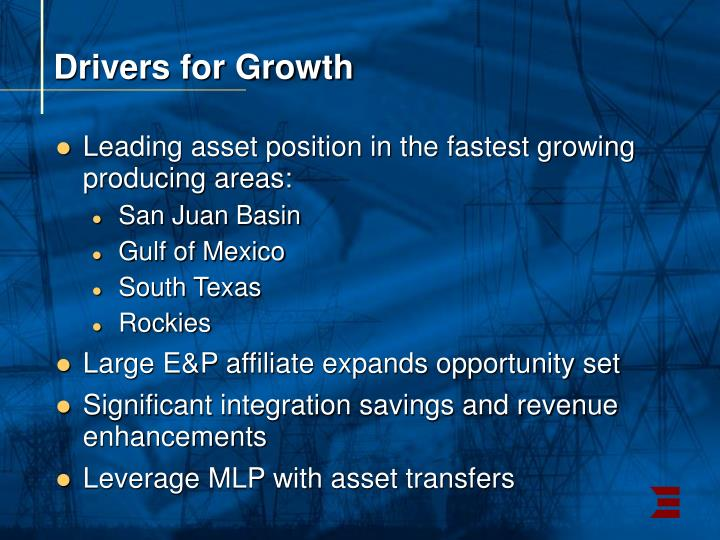 Drivers for Growth