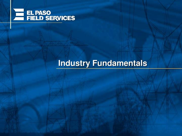 Industry fundamentals