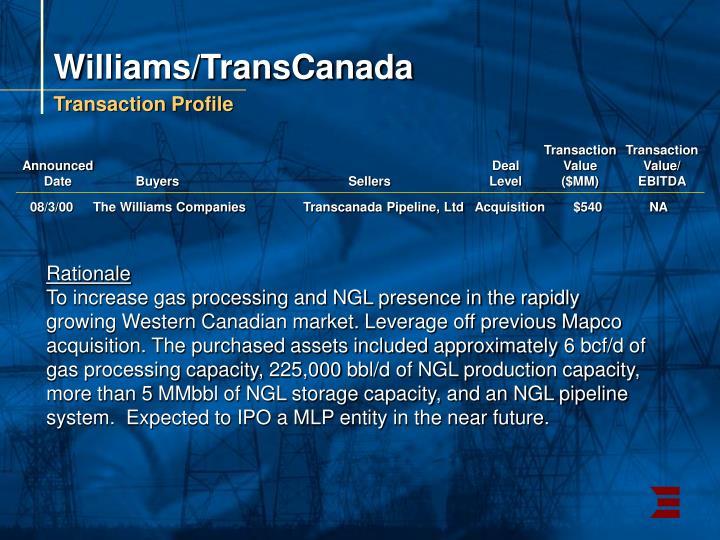 Williams/TransCanada
