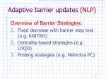 adaptive barrier updates nlp
