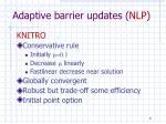 adaptive barrier updates nlp1