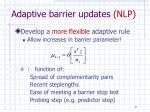 adaptive barrier updates nlp2
