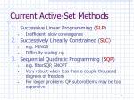 current active set methods