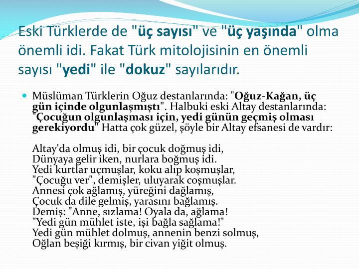 """Eski Türklerde de """""""