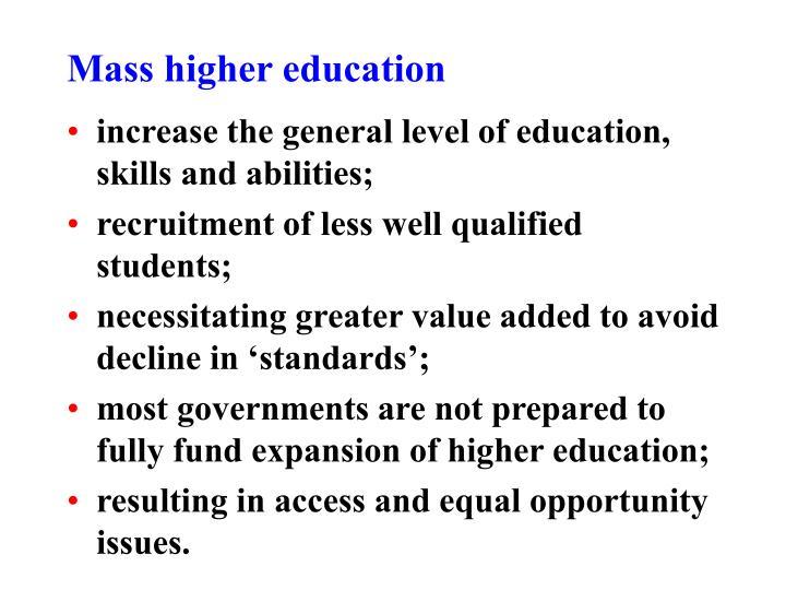 Mass higher education