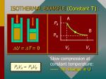 isothermal example constant t