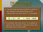 the first law of thermodyamics
