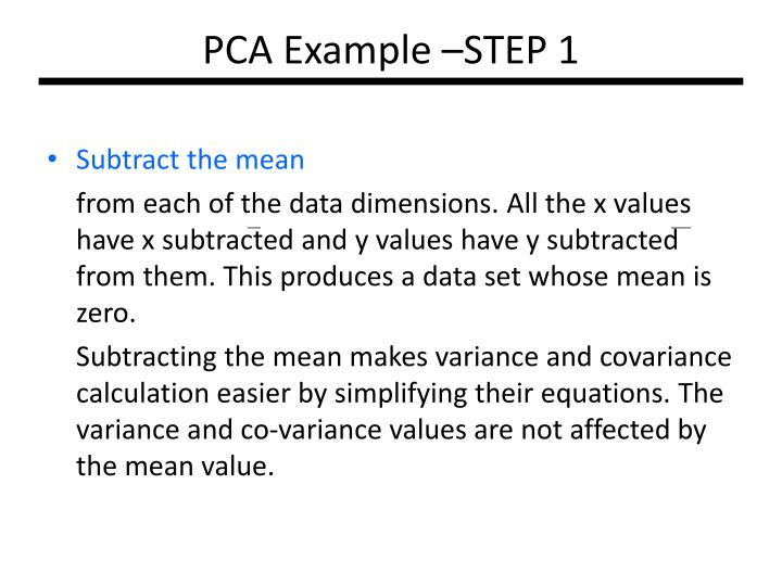 PCA Example –STEP 1