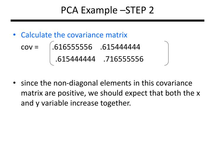 PCA Example –STEP 2