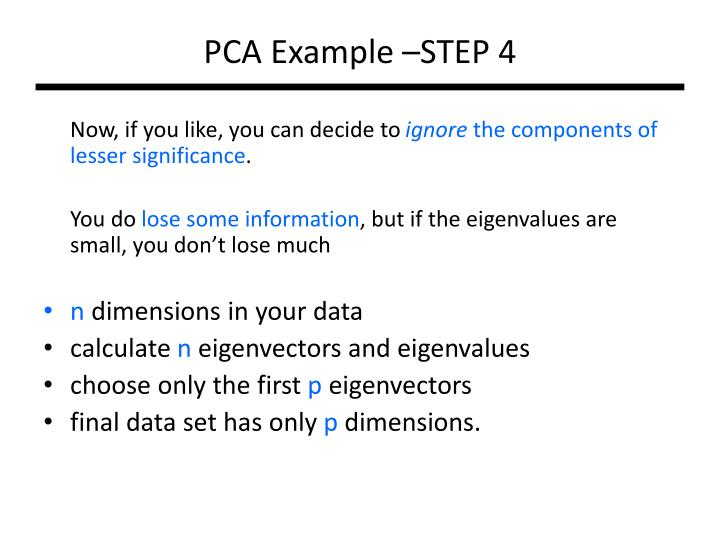 PCA Example –STEP 4