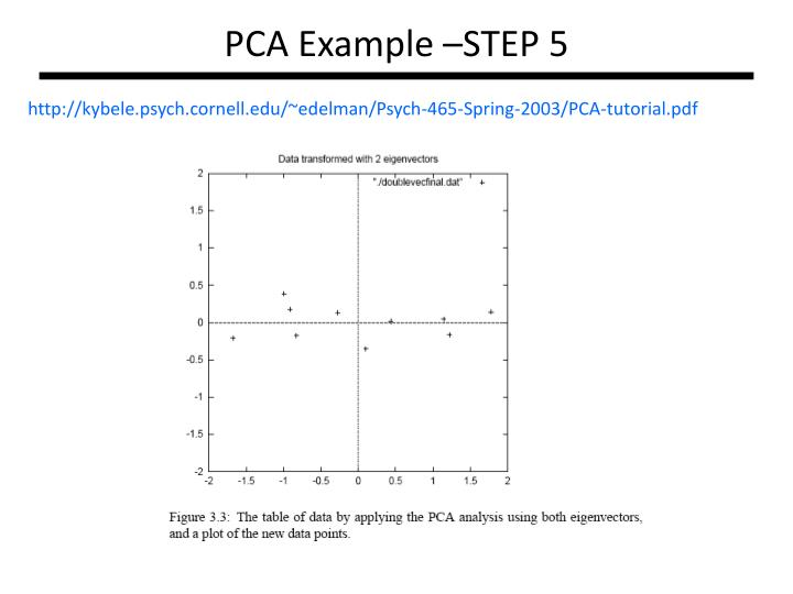 PCA Example –STEP 5