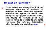 impact on learning3