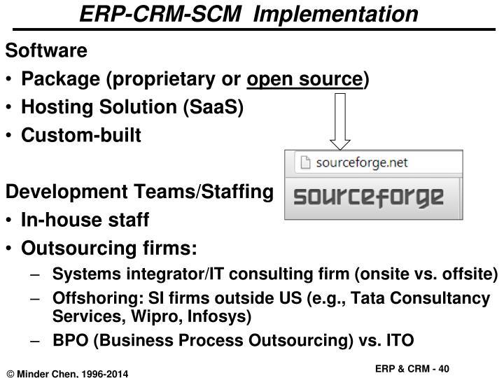 ERP-CRM-SCM  Implementation