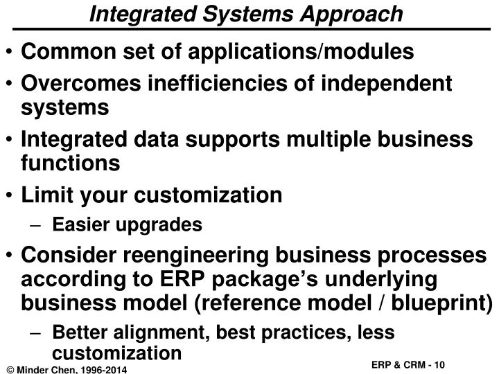 Integrated Systems Approach