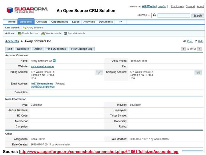 An Open Source CRM Solution