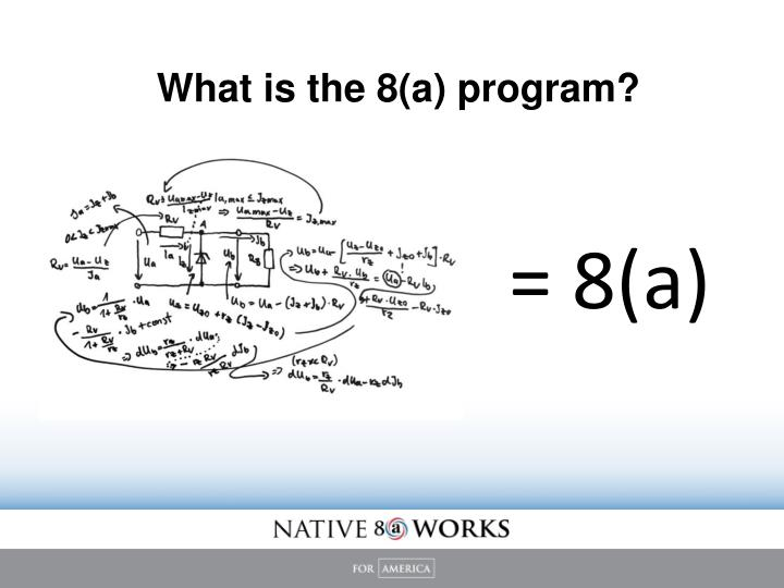 What is the 8 a program