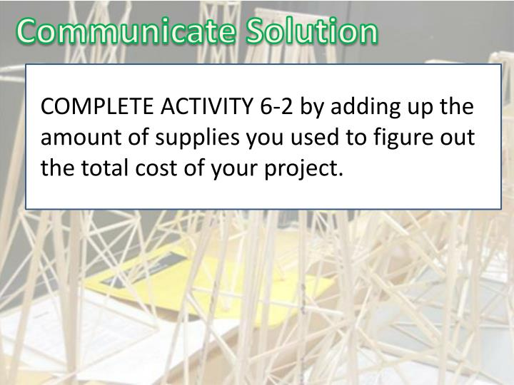Communicate Solution
