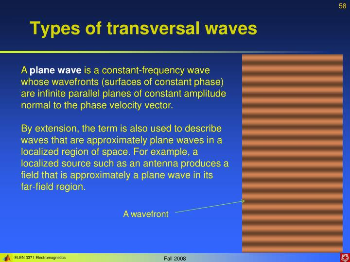Types of transversal waves