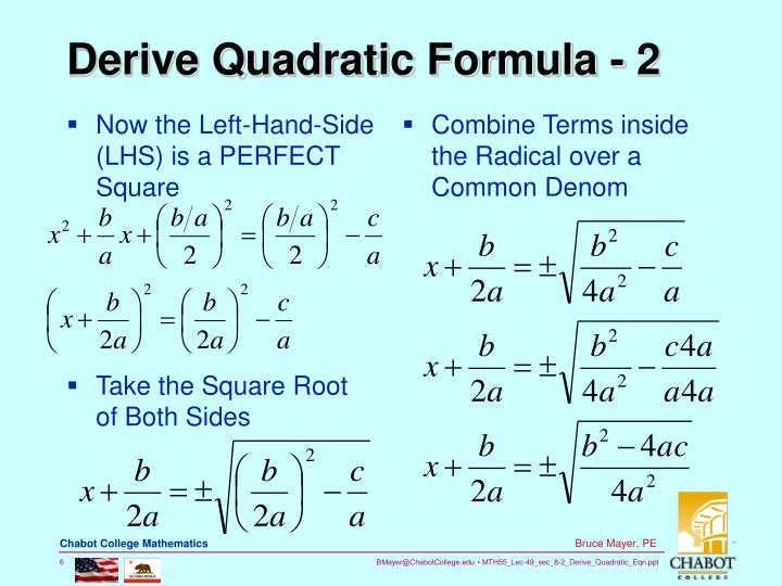 Now the Left-Hand-Side (LHS) is a PERFECT Square