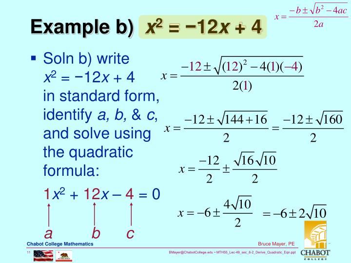 Example b)