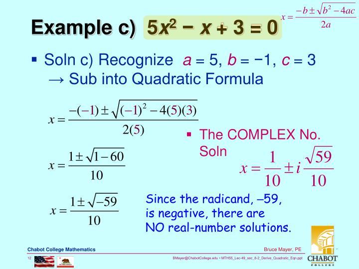 Example c)