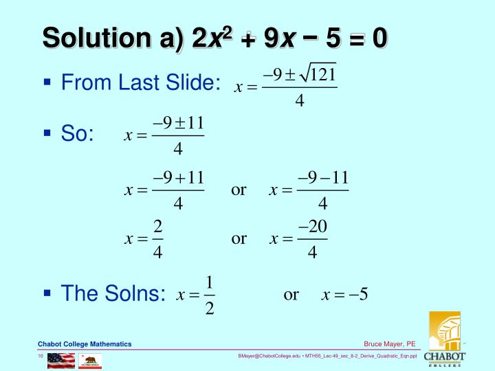 Solution a) 2