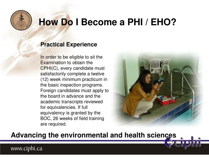 How Do I Become a PHI / EHO?