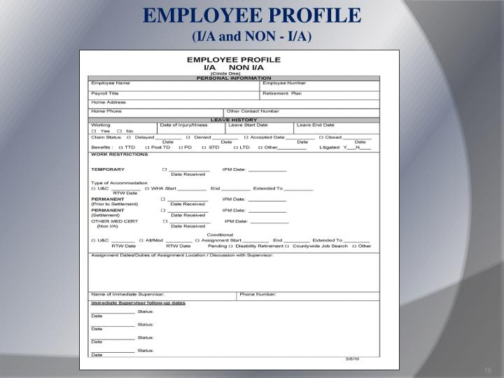 EMPLOYEE PROFILE