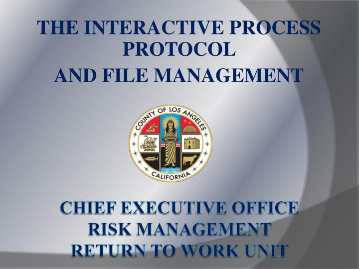The interactive process protocol and file management