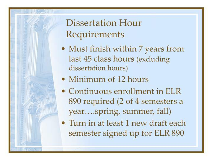 Dissertation Hour Requirements