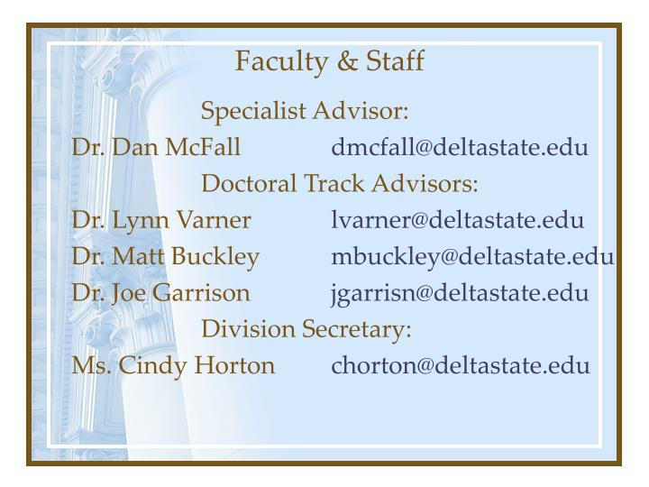 Faculty staff